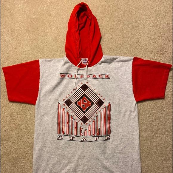North Carolina State Hoodie Mens Slim Fit Hooded Sweatshirt T-Shirt Hoodie with Drawstring Hood